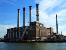 Con Edison plant smokestacks Royalty Free Stock Image