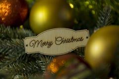Con el Año Nuevo y la Navidad, decoraciones de la Navidad, rojo y Fotografía de archivo