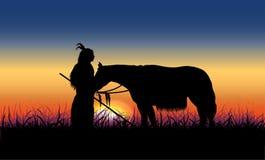 Con el caballo Foto de archivo libre de regalías