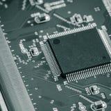 Con el circuito integrado foto de archivo