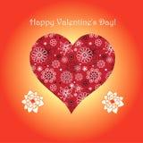 Con el día de tarjeta del día de San Valentín Imagen de archivo