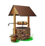 Con el pozo de agua potable libre illustration