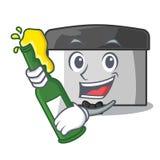 Con el raspador de los pasteles de la cerveza en la forma de la historieta stock de ilustración