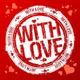 Con el sello del amor. Imagenes de archivo