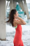 Con el viento en su pelo Foto de archivo libre de regalías
