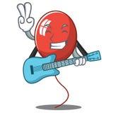 Con estilo de la historieta del carácter del globo de la guitarra Foto de archivo
