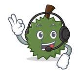 Con estilo de la historieta de la mascota del Durian del auricular Foto de archivo