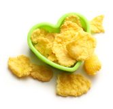 Con flakes in heart form Stock Photography
