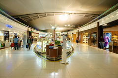 Con franquicia en el aeropuerto de Suvarnabhumi fotografía de archivo libre de regalías