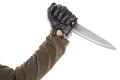 Con guantes negro Fotografía de archivo