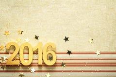 2016 con i coriandoli Immagini Stock Libere da Diritti
