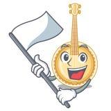 Con il banjo miniatura della bandiera nelle forme del fumetto illustrazione vettoriale
