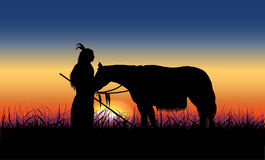 Con il cavallo Fotografia Stock Libera da Diritti