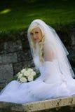 Con il `del vestito da cerimonia nuziale Fotografia Stock Libera da Diritti