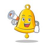 Con il fumetto del carattere di campana della scuola del megafono illustrazione vettoriale