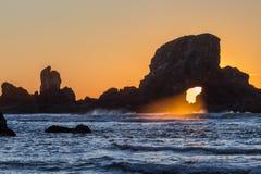 Con il tramonto dello zoom del buco della serratura Fotografie Stock