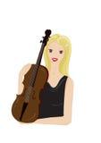 Con il violino Fotografia Stock