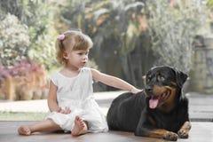 Con l'animale domestico fotografia stock