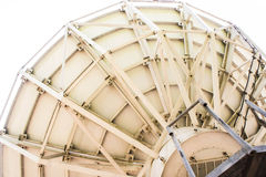 Con l'uso di vecchio riflettore parabolico Immagini Stock