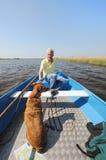 Con la barca in natura Fotografia Stock