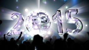 2015 con la bola de discoteca de giro libre illustration