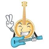 Con la chitarra il banjo è stato isolato dal carattere royalty illustrazione gratis