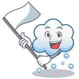 Con la historieta del carácter de la nube de la nieve de la bandera Fotografía de archivo libre de regalías