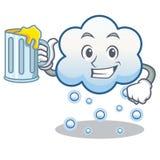 Con la historieta del carácter de la nube de la nieve del jugo Fotografía de archivo libre de regalías