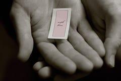 Con la nota romántica del amor Foto de archivo libre de regalías