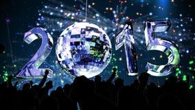 2015 con la palla di filatura della discoteca video d archivio