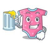 Con la ropa del bebé de la historieta del jugo para el recién nacido libre illustration