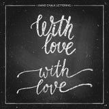 Con las letras de la tiza del amor Foto de archivo