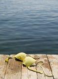 Con las tetas al aire en la playa Fotografía de archivo libre de regalías