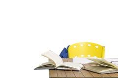 Con los libros y la mochila Imagen de archivo libre de regalías