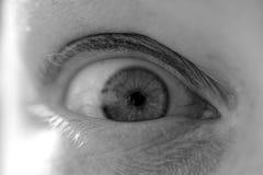 Con los ojos abiertos Foto de archivo