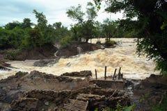 Con Pa Peng waterfall, Laos. Stock Photo