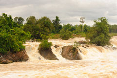 Con Pa Peng waterfall, Laos. Stock Image