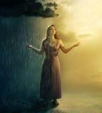 Con pioggia o sole Fotografie Stock Libere da Diritti