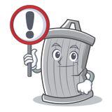Con stile del fumetto del carattere dei rifiuti del segno illustrazione di stock