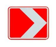 Con svolta a destra del segnale stradale isolato Immagini Stock Libere da Diritti