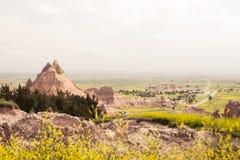 Con tiempo | Badlands Imagenes de archivo