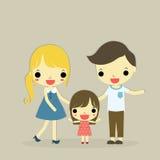 Con tres miembros de la familia Imagen de archivo