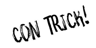 Con Trick rubber stamp Royalty Free Stock Images