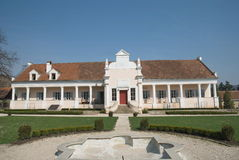 Conacul Apafi, Palace of XV century, Maranclav, Transylvania. Apafi's Palace on the hill of Malancrav, saxon village in Transylvania Royalty Free Stock Images