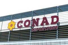 Conad超级市场商标 免版税库存图片