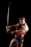 Conan. BARBARIAN NEW EDITION. ISOLATED ON BLACK. SHOT IN STUDIO Stock Images