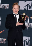 Conan O'Brien. At the 2014 MTV Movie Awards - Press Room held at the Nokia Theatre L.A. Live in Los Angeles on April 13, 2014 in Los Angeles, California Stock Photo