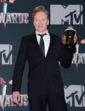Conan O`Brien. At the 2014 MTV Movie Awards - Press Room held at the Nokia Theatre L.A. Live in Los Angeles, USA on April 13, 2014 Royalty Free Stock Image
