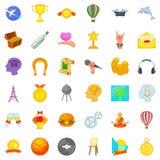 Conation icons set, cartoon style. Conation icons set. Cartoon set of 36 conation vector icons for web isolated on white background Royalty Free Stock Photography