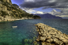 Conca dei Marini  fishing village Amalfi cost Royalty Free Stock Photography